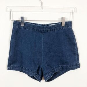 Free People High Waisted Denim Hotpants Shorts 25